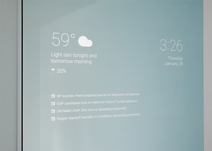 آینه ی هوشمند smart mirror