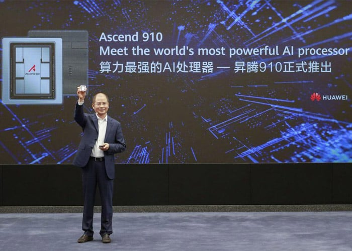 تراشه هوش مصنوعی هواوی / huawei ai chip Ascend 910