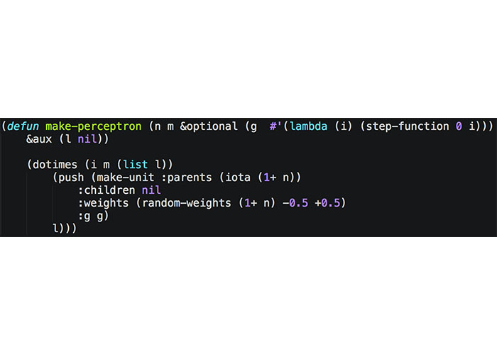 نمونه کد لیسپ / lisp code snippet