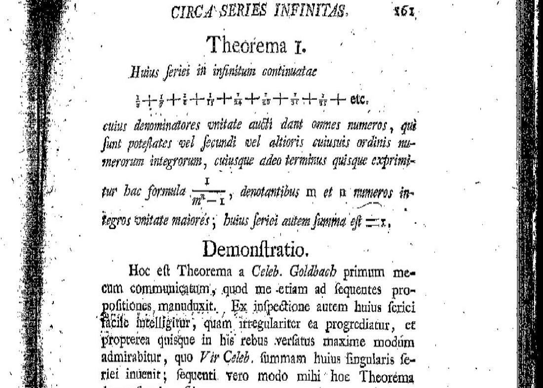 قضیه گلدباخ اویلر / Goldbach-Euler theorem