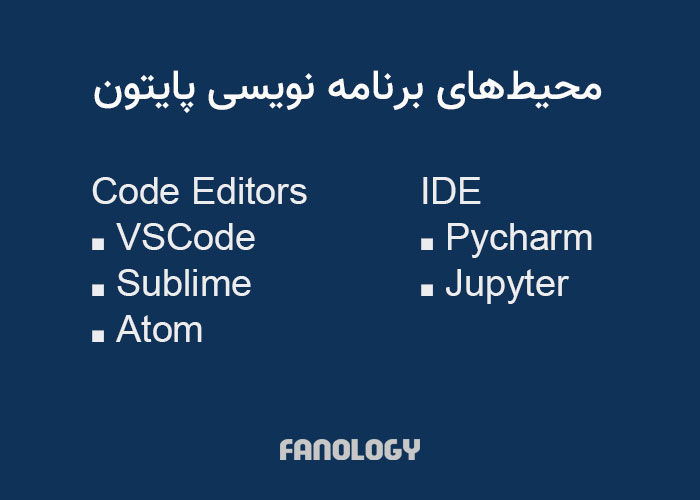 محیطهای برنامه نویسی پایتون / python workspaces