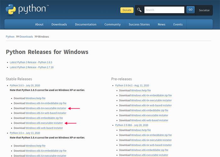 دانلود پایتون ویندوز / download python for windows