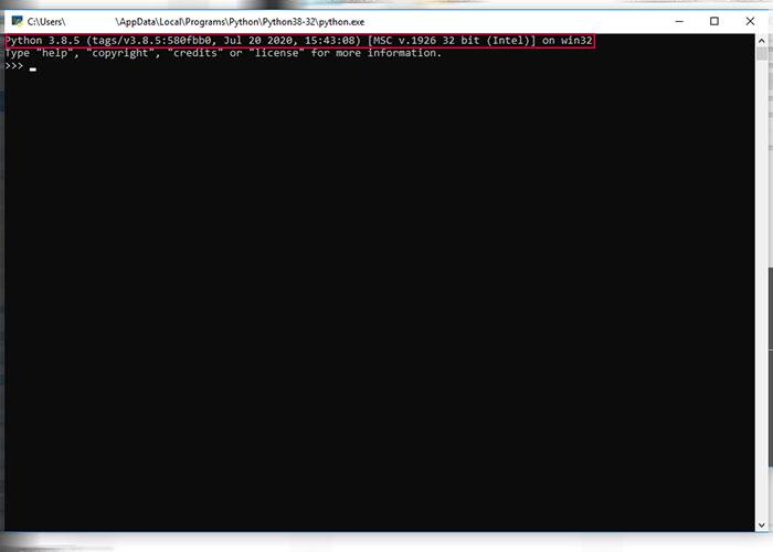 تشخیص نصب پایتون در ویندوز