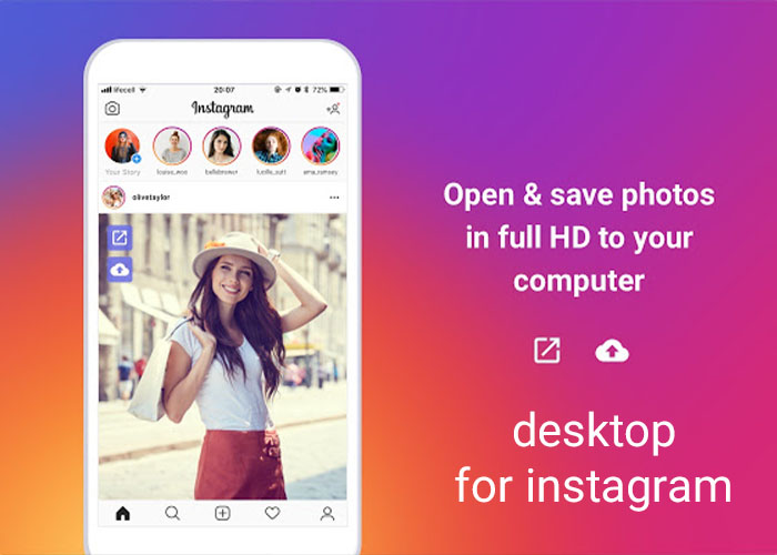 دسکتاپ اینستاگرام/desktop for Instagram
