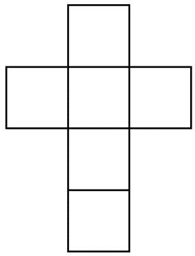 شکل بازشدهی مکعب / Net of a cube