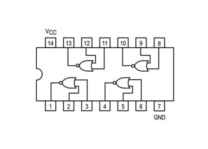 SN7402N IC - 4 NAND GATE