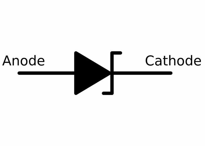 شماتیک دیود زنر | zener diode symbol