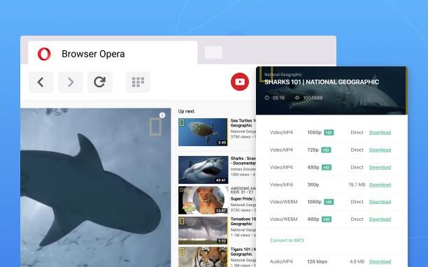 دانلود از یوتیوب با افزونه اپرا