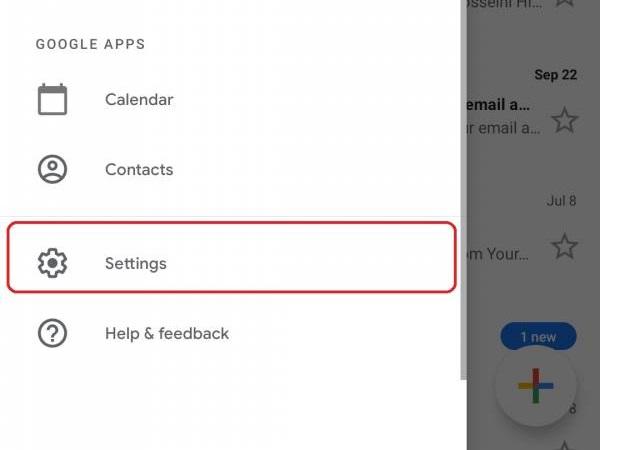 تنظیامات جیمیل در موبایل/gmail setting in phone
