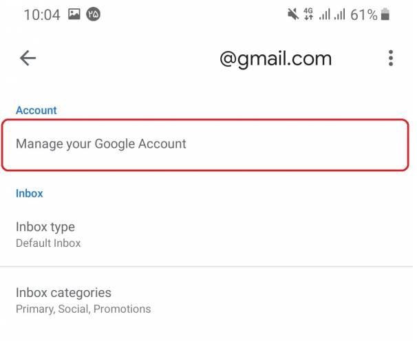 مدیریت حساب جیمیل/gmail account management
